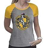 ABYstyle - Harry Potter - T-Shirt - Hufflepuff - Damen - Grau & Gelb - Premium (XL)