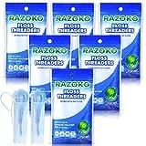 Zahnseiden-Einfädler Zahnseide Hilft Threaders Werkzeug,Zahnseidenhalter zwischen kiefergerechter Brücke, Klammern Implantate (420 Stück (6 Pack))