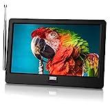 Tragbarer Mini Fernseher - August DA900D - 9 Zoll mit Akku - Portabler hochauflösender LCD TV mit DVB-T2 HD Tuner / EPG / Aufnahmefunktion (PVR) / Multimediaplayer / HDMI-In / USB / Kopfhö