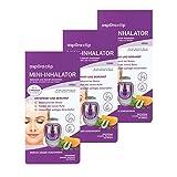 aspUraclip Mini-Inhalator relax (3er Pack) | Erster Mini-Inhalator für die Nase | Mit 100% Bio-Ölen aus Lavendel, Mandarine und Melisse | Wohltuend bei Stress und innerer U