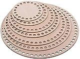 Lagrave Creative Korbboden Set, Korbböden, Korbböden zum Häkeln, Sperrholz Basen für Häkelkorb, 10cm, 15cm und 17cm (Set (10-30cm) 7 Größen)