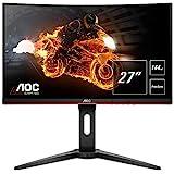 AOC Gaming C27G1 - 27 Zoll FHD Curved Monitor, 144 Hz, 1ms, FreeSync Premium (1920x1080, HDMI, DisplayPort) schwarz