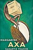 LINQWkk Blechschild Leonetto Cappiello Poster, Vintage-Werbung, Margarine Axa, französische Art, Art Deco, Retro-Werbung, Druck, Essen und Trinken, Art20,3 x 30,5 cm