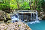 Wasserfall Thema Hintergrund Vinyl Landschaft Fotografie Hintergrund Studio Foto Requisiten Vorhang Hintergrund A5 5x3ft/1.5x1m