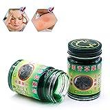 Gspose Thai Kräuter,Green Balm Massagebalsam rein pflanzlich,50g Thailändischer Massage-Balm Anti-Mückencreme zur Hautpflege Massage Wellness