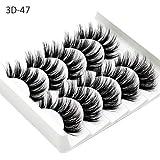 Falsche Wimpern, 5 Paare 3D Wimpern Künstliche Natürliche Schwarz Lange Pure Handgemacht Wiederverwendbar Dicke Wimpern