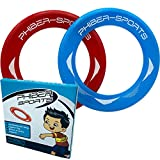 PHIBER-SPORTS Frisbee-Ringe – 2er Doppelpack Premium leichte Wurfringe – 80% Leichter als Standard Frisbee Scheiben - Einfach zu fangen – Perfekte Flugbahn - Ideal für Kinder und Erwachsene
