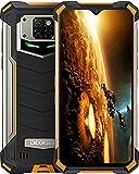 DOOGEE S88 Pro (Offiziell) Outdoor Handy 4G Wasserdichter Smartphone Ohne Vertrag Mecha Atemlampe 10000mAh Reverse Charge Android 10.0 6GB+128GB 6,3 Zoll 21MP Triple Kamera IP68/IP69K Handy (Orange)