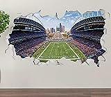 3D Wandtattoo Seattle Seahawks Field Wandbild Wandsticker Wandaufkleber Poster Deko Für Kinderzimmer Junge Kinder Wohnzimmer Küche 15x23inch(40x60cm)