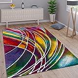 Paco Home Teppich Modern Designer Teppich Bunter Farbmix Gemustert Mehrfarbig, Grösse:160x230