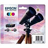 Epson Original 502 Tinte Fernglas, XP-5100 XP-5105 WF-2860DWF WF-2865DWF, Amazon Dash Replenishment-fähig (Multipack 4-farbig), Standard, Normalverpackung