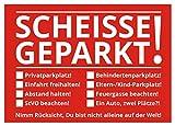 Falschparker Verwarnung - Notizzettel Strafzettel für die Windschutzscheibe 50er Set * Vorderseite: 8 Aufreger zum Ankreuzen * Rückseite weiß mit Platz für persönliche Anmerkungen * Die rote Variante