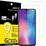 NEW'C 2 Stück, Schutzfolie Panzerglas für Xiaomi Mi 9 SE, Mi Play, Frei von Kratzern, 9H Härte, HD Displayschutzfolie, 0.33mm Ultra-klar, Ultrabeständig