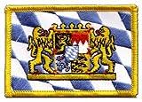 Aufnäher Patch Flagge Deutschland Bayern mit Löwe - 8 x 6