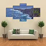Bild Auf Leinwand Leinwandbilder 5 Teile Fogher Cliffs Irish West Leinwandbilder Fünf Teile cm Zum Aufhängen Bereit - Bilder - Kunstdruck 5 Stück Poster Leinwand