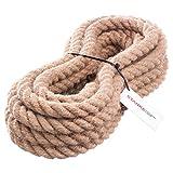 Seilwerk STANKE Juteseil Naturfasern gedreht Tauwerk Hanf Jute Tau Seil Tauziehen Absperrseil Handlauf 30mm 5m