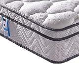 Vesgantti Matratze 90x200 7-Zonen Federkernmatratze Taschenfederkernmatratze Mittelfeste Orthopädischem Tonnentaschenfederkernmatratze (H3, Box-top 26cm)