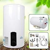 2KW 220V Elektroboiler Elektrospeicher Warmwasserbreiter 50L/80L/100L/120Lmit Handbrause (80L)