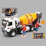 Xolye Legierung Betonmischer LKW Modell Simulation drehbar Zement Tanker Spielzeug Sound und Lichtmetalltechnik Fahrzeug Jungen Spielzeug Lehrbeihilfe Urlaub Geschenk (Color : Weiß)