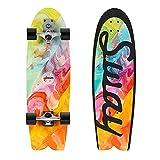 REWE Komplettes Skateboard für Kinder,ABEC-11 Präzisionslager,L-2 S7 LKW-Halterung,Professioneller Longboard Cruiser für Anfänger, Erwachsene, Kinder, Jungen, Mädchen, Jugendliche