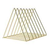Stafeny Schreibtischregal aus Eisen, stabil, 9 Fächer, Bücherregal, multifunktional, dreieckig, Aktenordner, Dreieck, Schreibtisch-Zeitschriftenhalter