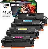 Cool Toner Kompatibel Tonerkartusche Replacement für HP 410X 410A CF410X CF410A für HP Color Laserjet Pro MFP M477fdw M477fdn M477fnw M377dw M452dn M452dw M452 M477 M377 Toner,CF411X CF412X CF413X