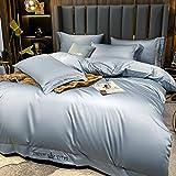 Exlcellexngce Bettbezug 140 200 Baumwolle,Silk BettwäSche .Sommernordic Stil Weich Und Bequem Einzelnes Doppelbett, Einzelkingsize-Bettbezug Pillowcase Geschenk-J_2.0m Bett (4 StüCke)