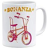 OM3® Bonanza Fahrrad Tasse | | Keramik Becher | 11oz 325ml | Beidseitig Bedruckt | Weiss
