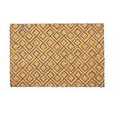 Relaxdays Fußmatte Kokos, geometrisches Motiv, 60 x 40 cm, Rutschfester Schuhabtreter, Türvorleger außen & innen, braun