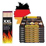 336x Anzündwürfel Kaminanzünder inkl 40 XXL Streichhölzer lang | Grillanzünder Made in Germany | Kohle-Anzünder Würfel für Grill-Kohle BBQ Grill Kamin | ideal zum Grillen und als Ofenanzünder
