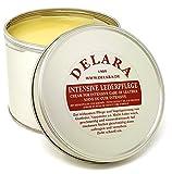 DELARA Intensive Lederpflege, farblos, 500 ml - Imprägniert und schützt Leder sehr wirksam. Neue Rezeptur mit hochwertigem Kokosöl und Bienenwachs - Made in Germany