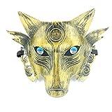 NEWMAN771Her Wolfsmaske, Tierkopfmasken für Erwachsene Kinder, Halloween Wolfskopfmaske Party Karneval Maskerade Cosplay Bar Performances Dekorationen
