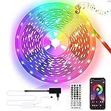 Kallrra LED Strip 10M, Bluetooth LED Streifen SMD 5050 RGB, LED Lichterkette mit Fernbedienung Steuerbar via App, LED Leiste Selbstklebend für Zimmer Schlafzimmer Bar TV Schrank Beleuchtung Deko