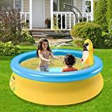 Furgle Aufblasbare Pool, Großer Familienpool, kleines planschbecken für Kinder, Familienschwimmbad, Aufblasbare Schwimmbäder, planschbecken (Runde) (151)