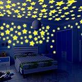 Meclelin Wandtattoo Leuchtsterne Glowing in the dark Plastik 100 Stück