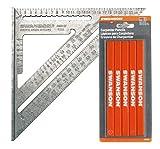 Swanson Speed Square Metrisch mit Zimmermanns Bleistifte - Vorteilspackung