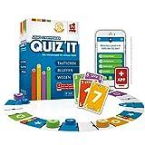Rudy Games Quiz it - Interaktives Quiz-Spiel mit App – Fragen aus unterschiedlichsten Themenbereichen für die ganze Familie – Ab 12 Jahren – Für 2-4 Spieler