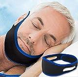 Anti Schnarchen Kinnriemen, Kinnband, Kopfband Snore Stopper, Chin Strap, Schnarchstopper, beste Lösung für Mund Schnarch, bequem und einfach zu bedienen (Blau) (blue)