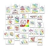 Motivationskarten - Inspirierende und Kindness Notizkarten, Danksagungskartenset - 60 Karten