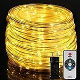 20M Lichterschlauch, OxyLED 300 LED Lichtschlauch IP65 Wasserfest, Lichterkette Strombetrieben mit EU-Stecker für Innen Außen Garten Weihnachten Fest Party Hochzeit Deko(Warmweiß)