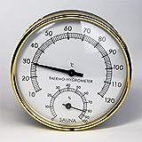 Sauna Thermometer Hygrometer 2 in 1 Sauna Thermo-Hygrometer Aus Holz Zimmerthermometer Hydrometer Feuchtigkeit