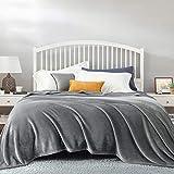 BEDSURE Kuscheldecke Grau große Decke Sofa, weiche& warme Fleecedecke als Sofadecke/Couchdecke, kuschel Wohndecken Kuscheldecken, 230x270 cm extra flaushig und plüsch Sofaüberwurf Decke