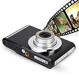 Goshyda Digitalkamera, 2,4 Zoll 720P HD Ultra Slim Mini-Kamera 20MP Wiederaufladbare Taschenkamera mit 8-fachem Optischen Zoom, Vlogging-Kamera für Kinder, Erwachsene, Anfänger, für YouTube(schwarz)