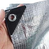 HWLL Schattennetz Effizient Kühlendes Alu-Schirmtuch, Weiß/silberfarbene Netzplane mit 99% UV-Block, Sonnenschutznetz für Gewächshauspflanzen Lagerhallen (Size : 4mx4m/13ftx13ft)