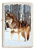 Zippo – Wolf im Eis, Mercury Glass – Benzin Sturm-Feuerzeug, nachfüllbar, in hochwerti-ger Geschenkbox 60005579, normal