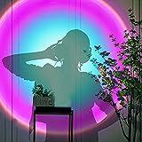 Sonnenuntergang Projektion LED Licht, 180-grad-drehung Projektor LED, Sonnenuntergangslampe Lichtprojektor für Schlafzimmer, Regenbogenprojektionstischlampe Rotierende Projektionslampe,Rainbow