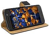 mumbi Echt Leder Bookstyle Case kompatibel mit iPhone 7 / 8 Hülle Leder Tasche Case Wallet, schw