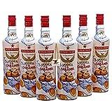 6x 1l Rushkinoff Vodka & Karamell Caramelo aus Mallorca + Backpulver 14g