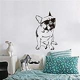 Lamubh Bulldogge Aufkleber Kinderzimmer Vinyl Wandaufkleber Hund Schlafzimmer Tapete Home Decor 57x101cm
