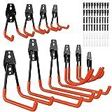 ETEPON Haken,10 Stück Garage Storage Doppelhaken Wandhaken, Multisize Heavy Duty Wandhalterung Werkzeughalter